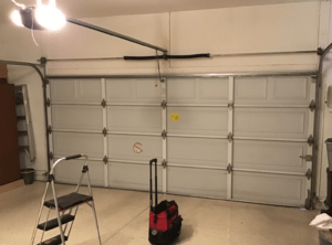 garage door track installation