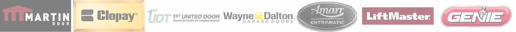 garage door companies offered