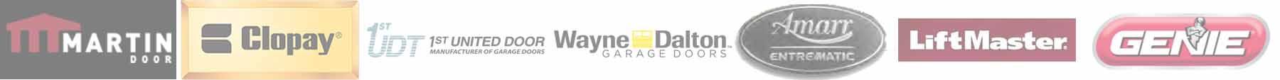 garage door companies offered
